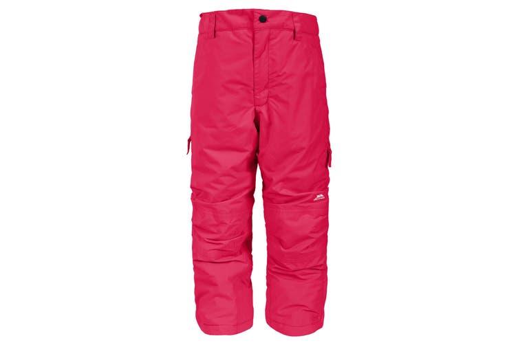 Trespass Kids Unisex Contamines Padded Ski Pants (Raspberry) (9/10 Years)