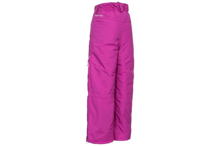 Trespass Kids Unisex Contamines Padded Ski Pants (Purple Orchid) (3/4 Years)
