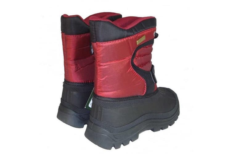 Trespass Kids Unisex Kukun Pull On Winter Snow Boots (Red) (2 Youth UK)