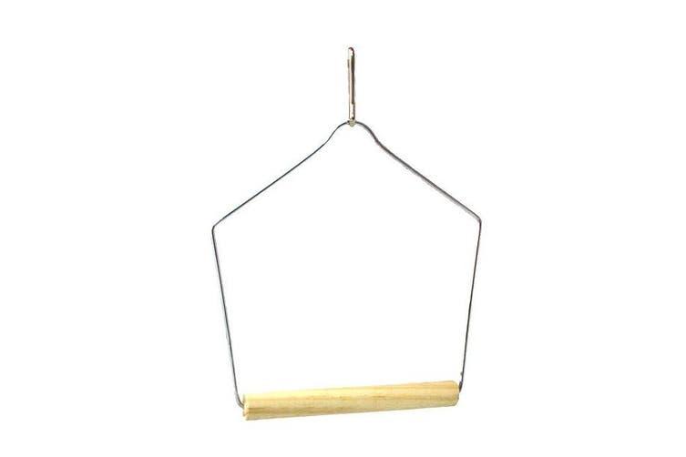 Beaks Wooden Budgie Swing (Silver/Beige) (13 x 9.5cm)