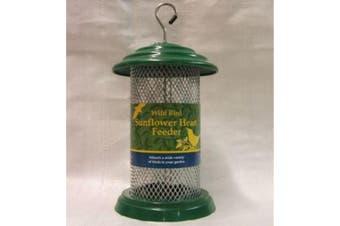 Trust Plastic Sunflower Heart Feeder (Green) (12 Inch)