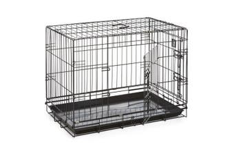 Dog Life Dog Crate (Black) (76x48x55cm)