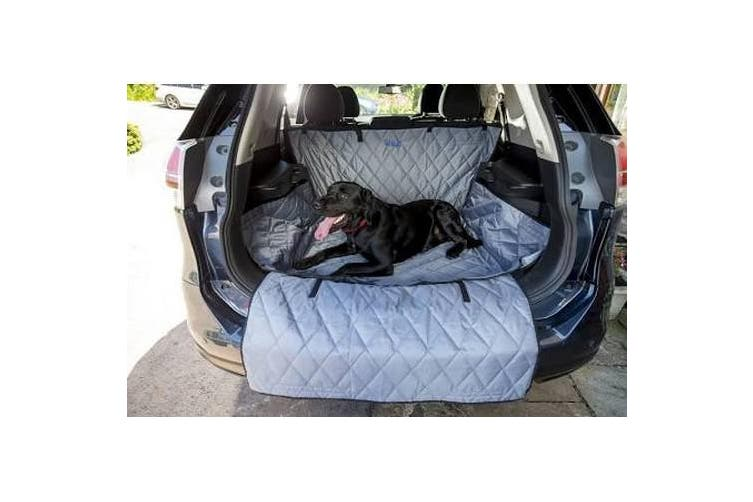 Henry Wag Pet Car Boot & Bumper Protector (Grey/Black) (Large SUV Size)