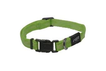 Rogz Alpinist Side Release Adjustable Dog Collar (Green) (Extra Large)