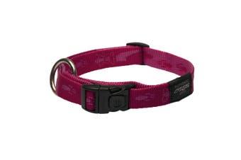 Rogz Alpinist Side Release Adjustable Dog Collar (Pink) (Extra Large)
