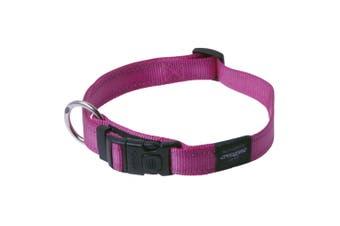 Rogz Utility Side Release Adjustable Dog Collar (Pink) (Extra Large)