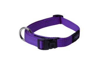 Rogz Utility Side Release Adjustable Dog Collar (Purple) (Extra Large)