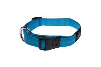 Rogz Utility Side Release Adjustable Dog Collar (Turquoise) (Extra Large)