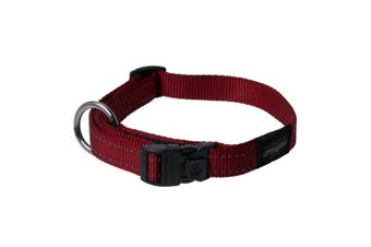 Rogz Utility Side Release Adjustable Dog Collar (Red) (Extra Large)