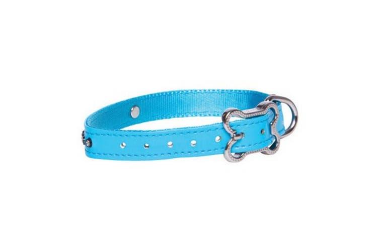 Rogz Luna Side Release Adjustable Dog Collar (Blue) (11 - 16in)