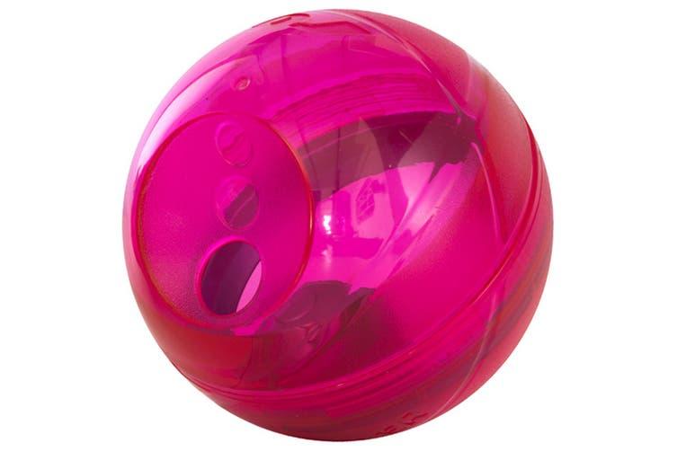 Rogz Tumbler Treat Puzzle Dog Toy (Pink) (One Size)