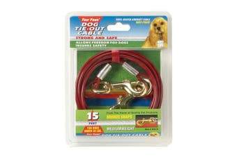 Four Paws Tie Out Cable (Red) (4.5M)