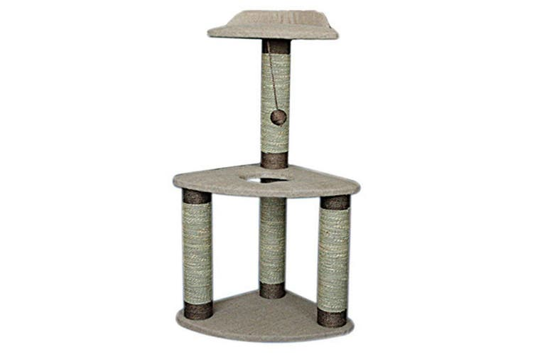 Lazy Bones 2-Tier Corner Cat Scratching Post (May Vary) (One Size)