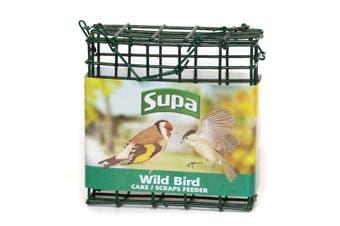 Supa Wild Bird Suet Block Feeder (Green) (One Size)