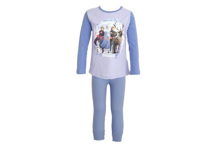 Frozen 2 Childrens/Girls Believe In The Journey Pyjama Set (Purple) (7-8 Years)