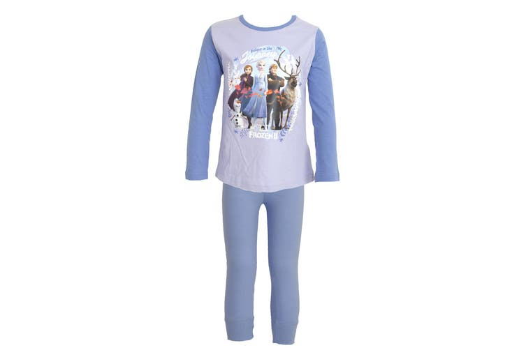 Frozen 2 Childrens/Girls Believe In The Journey Pyjama Set (Purple) (9-10 Years)