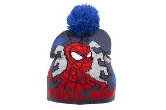Spider-Man Childrens/Kids Beanie Bobble Hat (Navy)