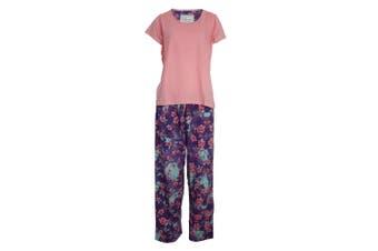 Chic-A-Mo Womens/Ladies Floral Pyjama Set (Pink/Floral) - UTUT278