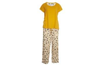 Chic-A-Mo Womens/Ladies Bees Pyjama Set (Yellow) - UTUT279