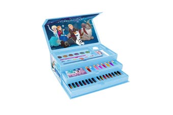Frozen 2 Childrens/Kids 52 Piece Colouring Case (Blue) (One Size)