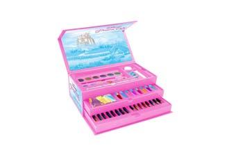 Disney Princess Childrens/Kids 52 Piece Colouring Case (Pink) (One Size)