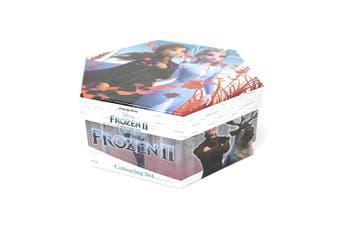 Frozen 2 Childrens/Kids Hexagon 40 Piece Colouring Case (Blue) (One Size)