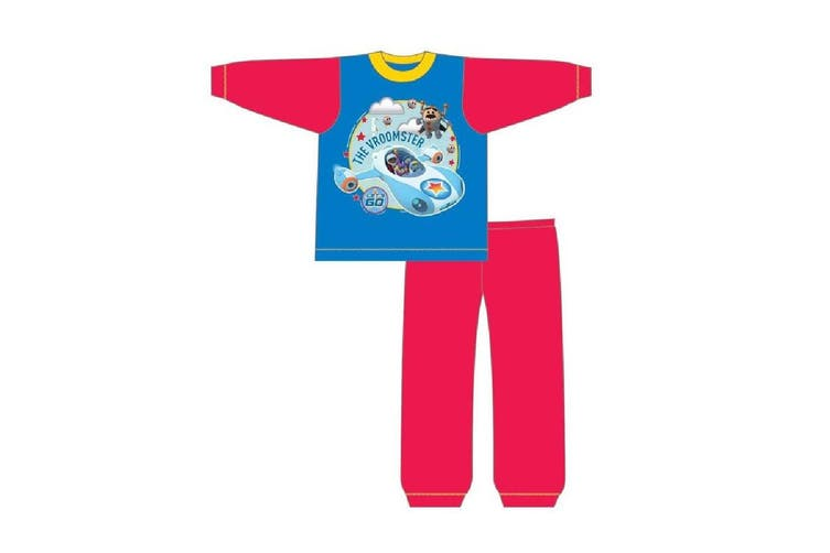 Go Jetters Boys The Vroomster Pyjama Set (Blue/Red) (18-24 Months)