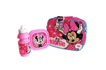 Minnie Mouse Childrens/Kids Lunch Bag Set (Pink) (One SIze)
