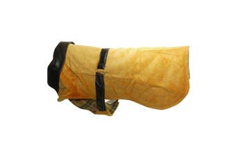 Vital Pet Products Corduroy And Leather Dog Coat (Orange) (22in)