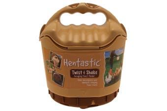 Hentastic Plastic Twist & Shake Foraging Chicken Pellet Feeder (Brown) (One Size)