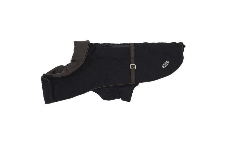 Kruuse Buster City Waterproof Dog Fashion Coat (Black) (Medium/Large)