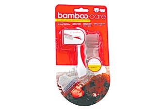 Munchkin Bamboo Fine Dog & Cat Grooming Comb (White/Red) (One Size)