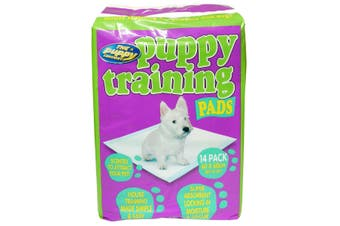 Pet Brands Puppy Toilet Training Pads (White) (Pack of 14)