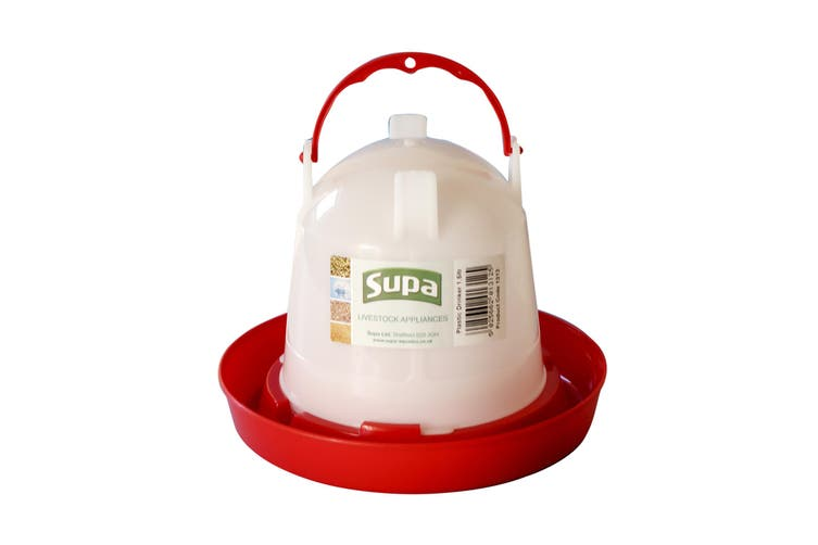 Supa Poultry Drinker (White/Red) (3l)