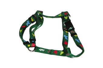 Vital Pet Products Animal Print Nylon Dog Harness (Green) (25mm x 70-90cm)