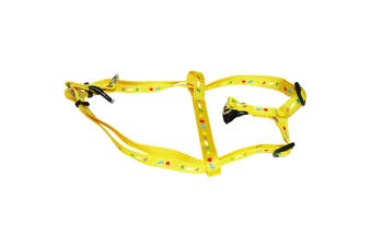 Vital Pet Products Animal Print Nylon Dog Harness (Yellow) (15mm x 30-50cm)