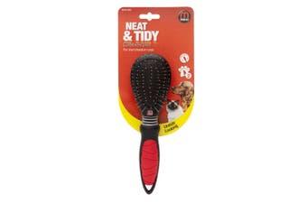 Interpet Mikki Combi Dog Grooming Brush (Black/Red) (Small)