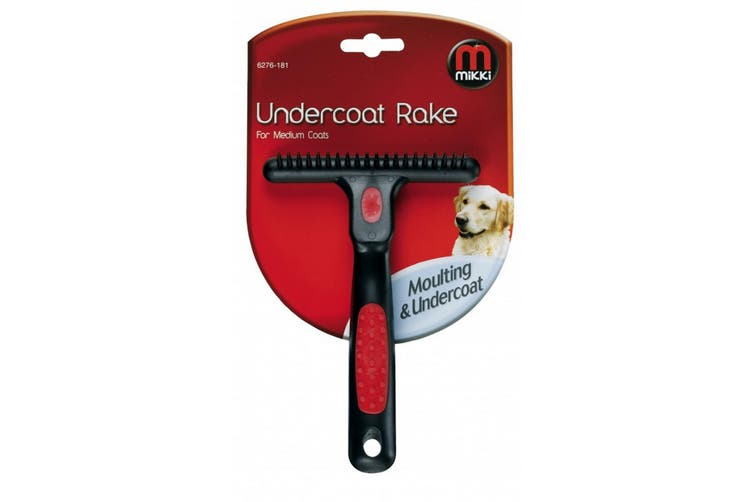Interpet Limited Mikki Undercoat Rake (Black/Red) (Medium)