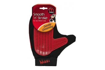 Interpet Limited Smooth & Stroke Dog Grooming Glove (Red) (One Size)