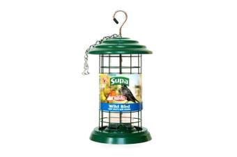 Supa Easy Fill Plastic Fortress Bird Seed Feeder (Green) (20cm)