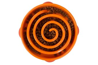 Outward Hound Fun Dog Feeder (Orange) (Mini)