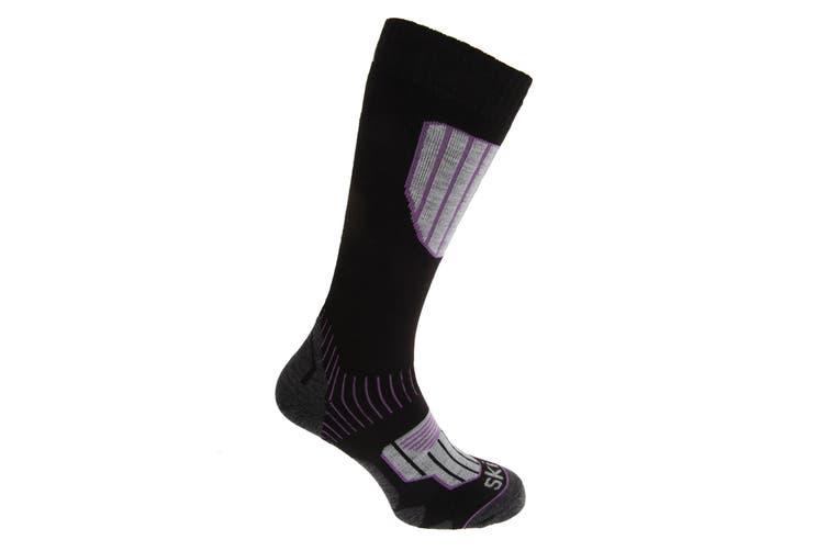 Womens/Ladies Performance Ski Socks (Lilac) (UK 4-8, EUR 37-42)