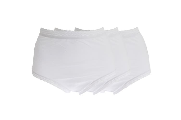 La Poem Lingerie Womens/Ladies Cotton Full Briefs (Pack Of 3) (White) (44-46in)