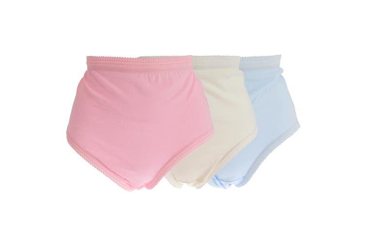 La Poem Lingerie Womens/Ladies Cotton Full Briefs (Pack Of 3) (Pink/Cream/Blue) (48-50in)