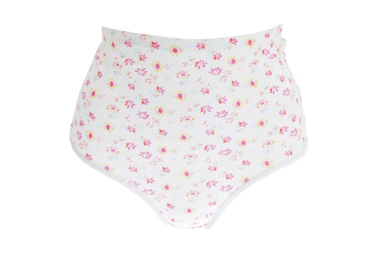 Passionelle Womens/Ladies Floral Tunnel Elastic Cotton Briefs (Pack Of 3) (White/Floral) (38-40in)