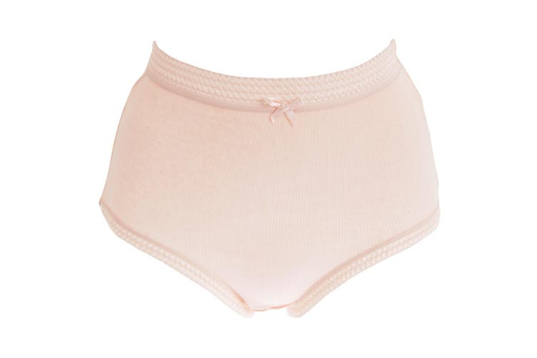 Passionelle Womens/Ladies Ribbed Pastel Cotton Briefs (Pack Of 3) (Pastel) (3XOS)