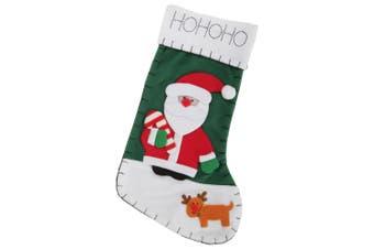 Snowman / Santa / Reindeer Design Felt Christmas Stocking (Santa) (One Size)