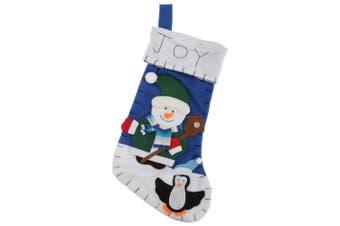 Snowman / Santa / Reindeer Design Felt Christmas Stocking (Snowman) (One Size)