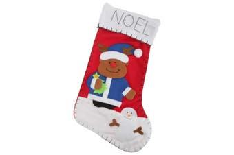 Snowman / Santa / Reindeer Design Felt Christmas Stocking (Reindeer) (One Size)