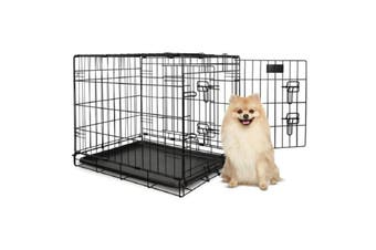 Yours Droolly Dog Crate Double Door 48-inches